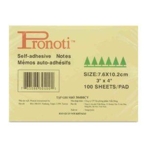 Giấy note vàng 3x4 Pronoti 7,6cmx10,5cm