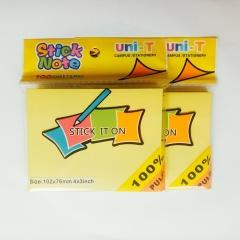 Giấy note vàng 3*4 uni - T