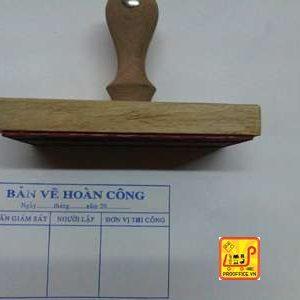Dấu cán gỗ 7x14cm