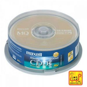Đĩa CD Maxell - Hộp tròn 10 cái