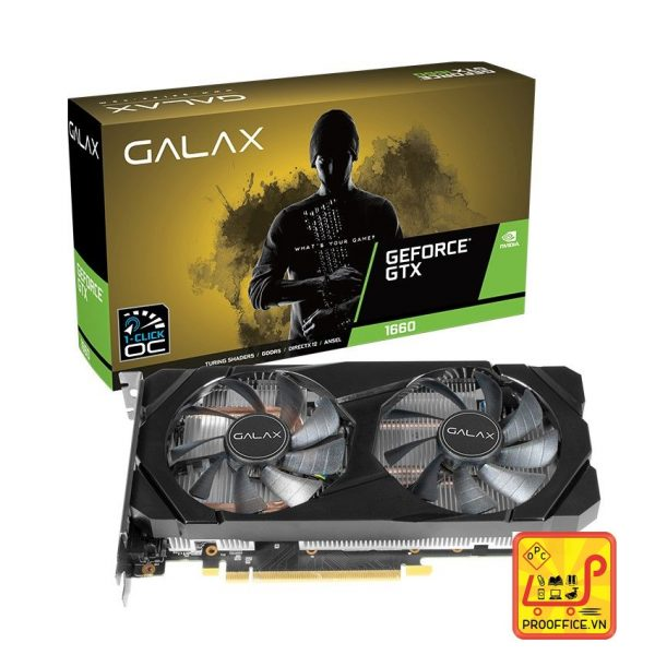 VGA GALAX GeForce GTX 1660 (1-Click OC) 6GB GDDR5 (60SRH7DSY91C)